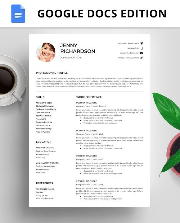Resume Template Cv Google Docs Resume Design Template Resume Template Resume Templates