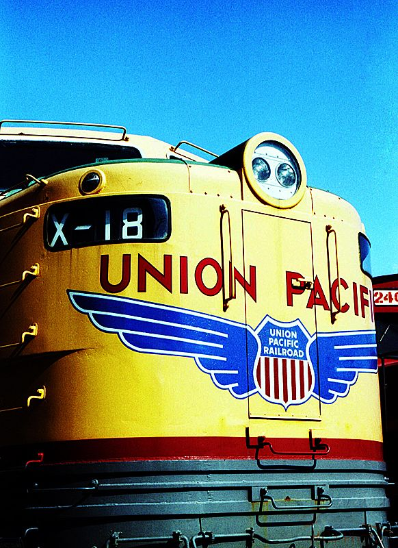 Union Pacific Alcohol diesel X-18 on display at Illinois Railway Museum in Rockford, IL...best train museum in the world!!