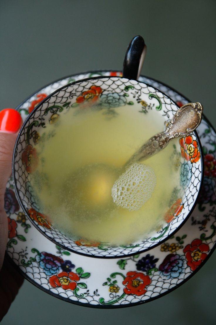 Ginger honey lemon tonic (for flu season!)