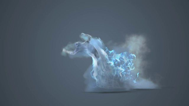 Goofing off with Fumefx Krakatoa and a Final Render Shader.