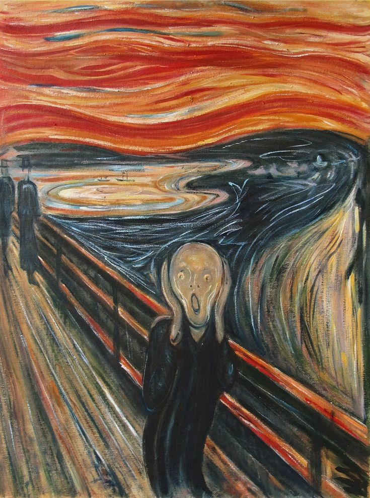 Oil painting (Scream) by Edvard Munch famous oil painting on canvas for wall decoration high quality