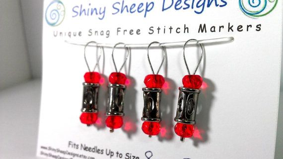 Knitting Stitch Markers Snag Free Silver Tone by ShinySheepDesigns, $8.00