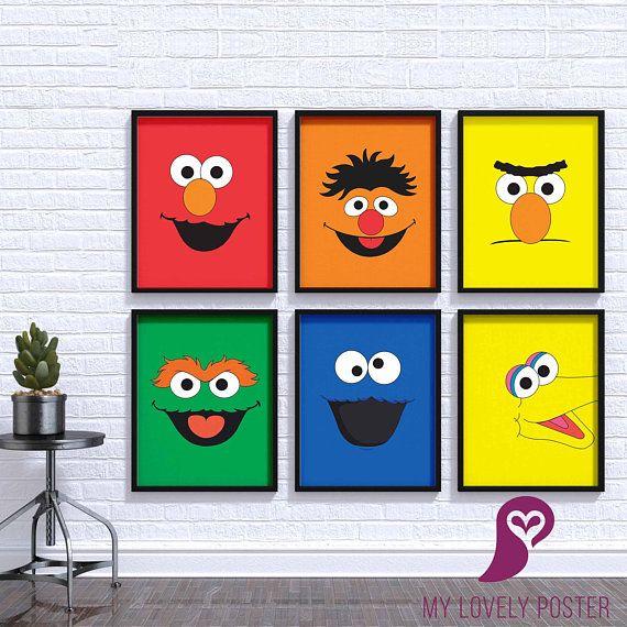 Canvas Original Cast of Sesame Street Art print POSTER