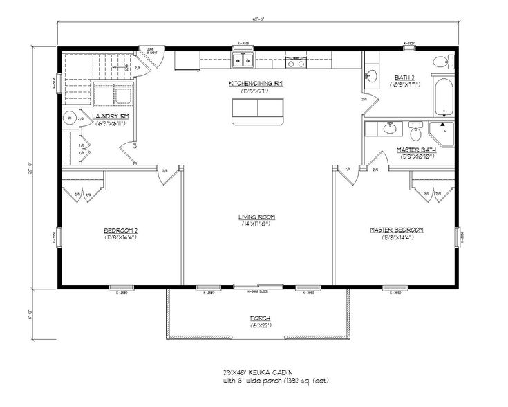 Modular cottage floor plans gurus floor for Cottage modular homes floor plans