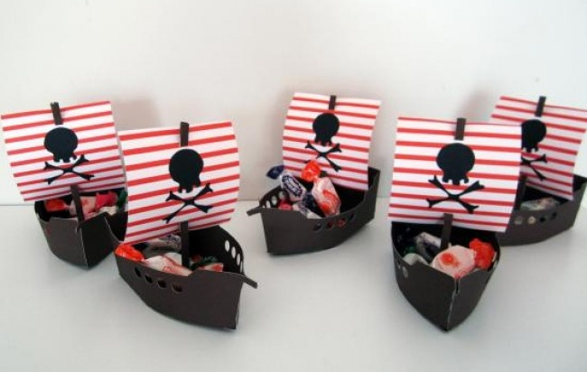 caja bolsita souvenir cumple, graduacion, piratas y mas