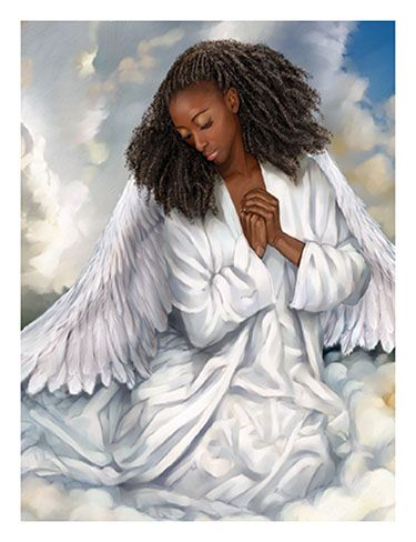 Image detail for -... His Grace! Christian Store Fine Art African American Print Angel 1