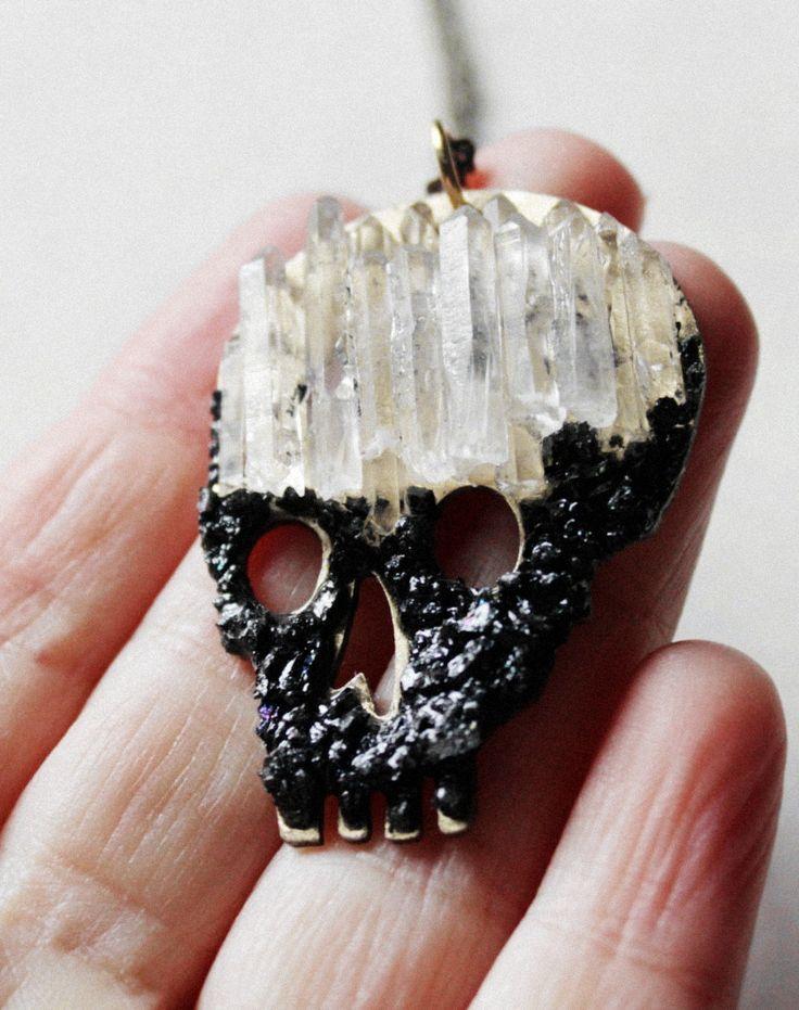 Mens skull jewelry,Mens skull necklace,Gothic skull necklace,Crystal skull necklace,black skull,punk rock,mens necklace pendant,men's man,skull fashion skull jewelry Day of the dead skull art