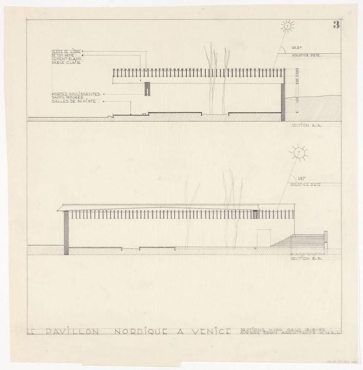 AD Classics: Nordic Pavilion in Venice,Sections / NMK.2008.0734.016.014 / Fotolisens: Fri ikke-kommersiell bruk