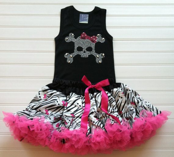 Girls Pirate Outfit Top and Petti Skirt Outfit by BabyThreadsByLiz