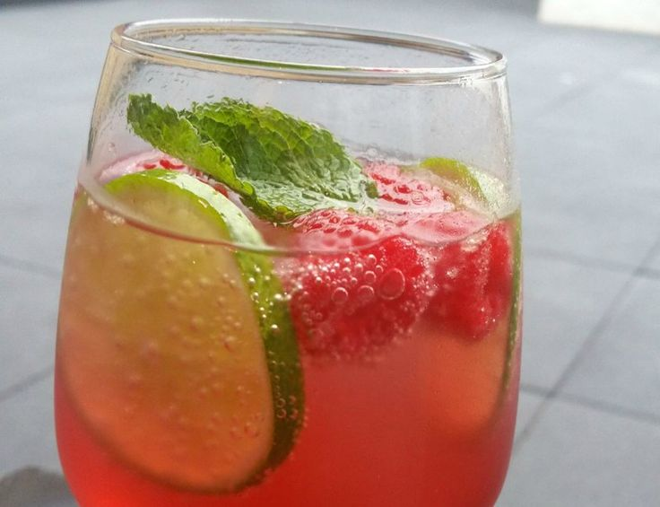 Frambozen Mojito (zonder alcohol)