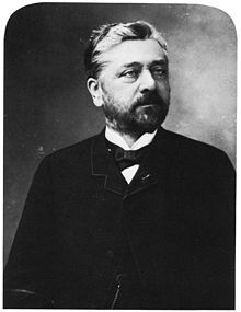 """Alexandre Gustave Eiffel (December 15, 1832 – December 27, 1923) A French engineer Gustave, was nicknamed the """"magician of iron"""" after finishing the Eiffel Tower in Paris in 1889. Eiffel was an engineering success around Europe prior to the construction of the tower, erecting bridges and arches in metals. His work can also be seen in the frame of the Statue of Liberty.he is awesome and inspires me of doing things beyond what I think I can do."""
