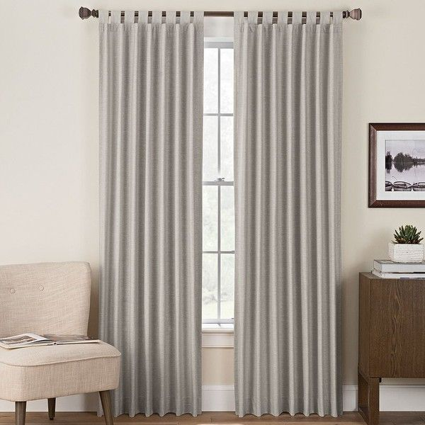 Hudson Hill Naples Curtain (£19) ❤ liked on Polyvore featuring home, home decor, window treatments, curtains, dark grey, charcoal curtains, lightweight curtains, lightweight panels, charcoal grey curtains and dark grey curtains