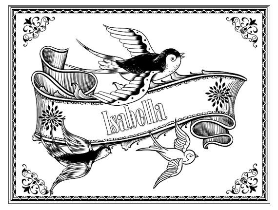 Name Coloring Pages For Kids I Know A Few Who Would Love These
