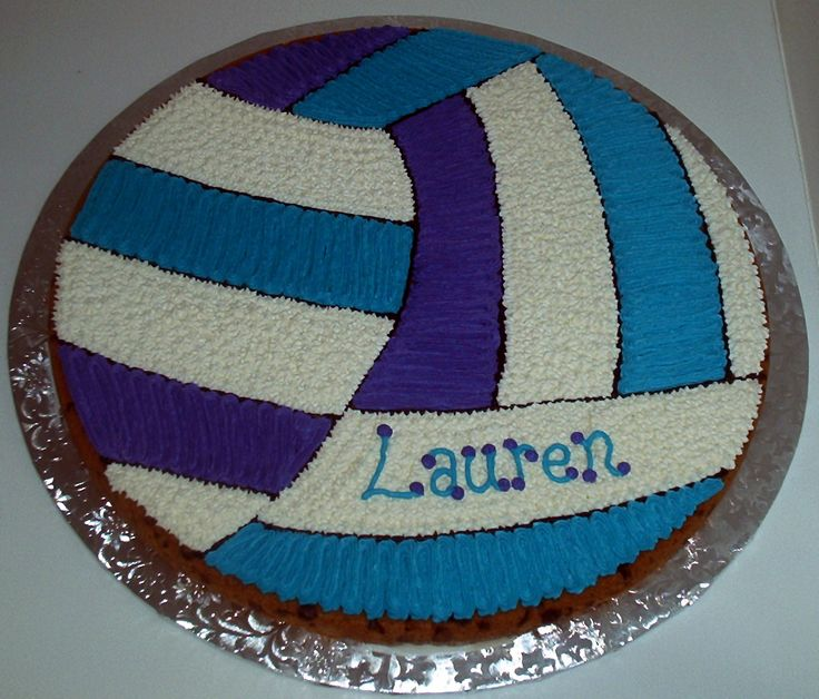 Volleyball Cookie Cake....also a birthday option. except with hana of course:)