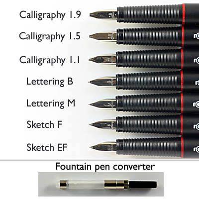 Técnicas de Caligrafía / Calligraphy Techniq Estilográficas: Rottring Art pen.