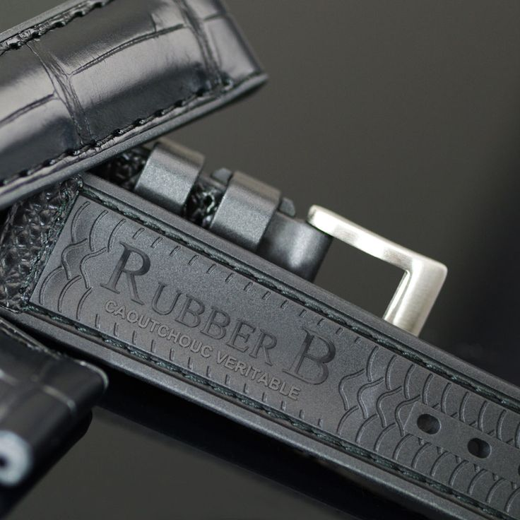 RUBBER B } LUXURY 22mm WATCH BANDS, LEATHER, ALLIGATOR WATCHBANDS, RUBBER WATCH STRAPS | RUBBER B | RUBBER STRAP FOR ROLEX, PANERAI, WATCHES