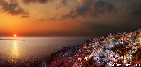Sunset at santorini