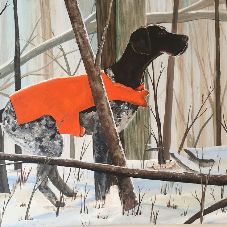 German Short Haired Pointer #gsp original acrylic painting. Check out www.tabcreates.ca or on Facebook @ TabCreates #germanshorthairedpointet