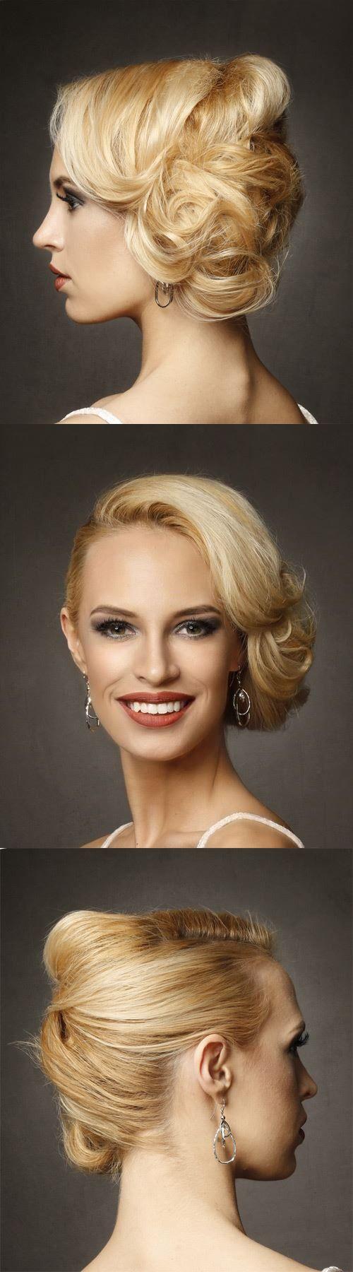 Light Blonde Formal Updo