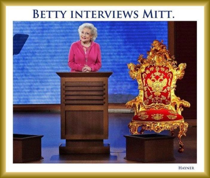 Hahahaha  Love you BettyMitt Romney, Interview Mitt, Politics, White Interview, Betty White, Betty Interview, Funny Stuff, Empty Chairs, 2012 Electionpolit