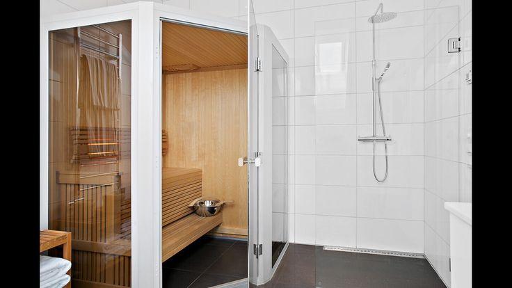 Small sauna perfect to the bathroom