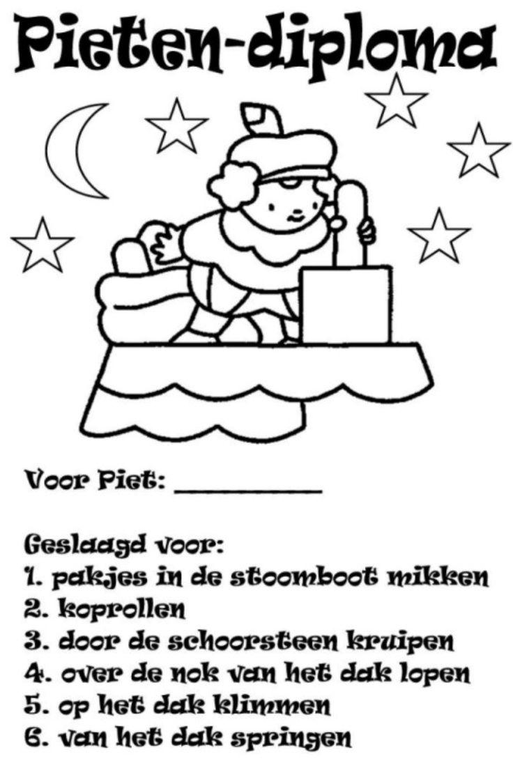 Sinterklaas - Knutselidee - pietendiploma
