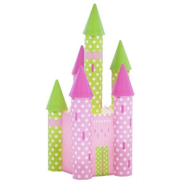 Stupenda questa lampada a forma di un vero castello decorata con dei colori vivaci.