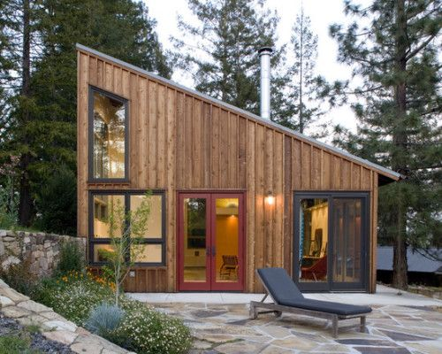 Designed by architect Cathy Schwabe, this stylish design might be a little larger than the typical tiny house we profile, but at around 800 square feet it's just about perfect for a small family and would make a great vacation home or cabin.