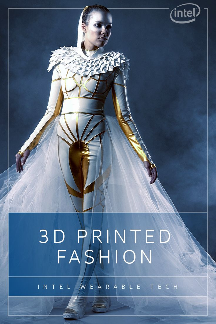 The Eagle Borg bodysuit from Monica Vaverová fuses sci-fi inspiration, modern fabrics and stunning 3D-printed elements that include a gravity-defying helmet. Experience what happens when Intel tech and 3D-printing let fashion soar with smarts. http://intel.ly/1PJctSa