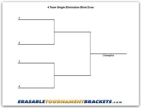 Printable Tournament Bracket For Game Night