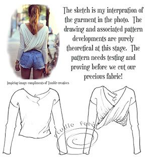 All the detail in the back! well-suited: #PatternPuzzle- TWIST JUMPER  #patternmaking #sydney