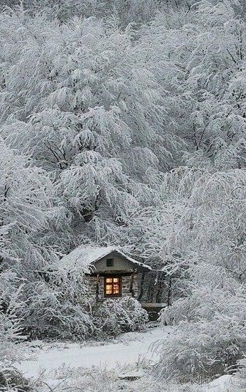 A log cabin for hunters in the Siberian forest Russian  Wooden Cabins  Winter cabin Snow