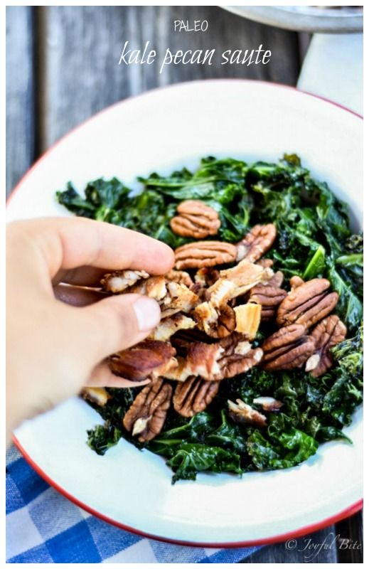 Quick and easy kale sauté topped with bacon or fried turkey and ...