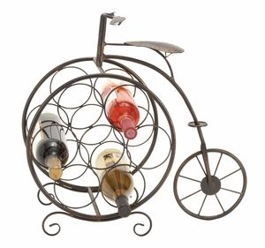 metal wine rack19 inches high style statement by benzara - Metal Wine Rack