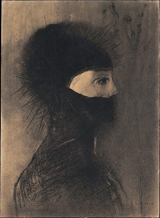 Armor Odilon Redon (French, Bordeaux 1840–1916 Paris) Date: 1891 Medium: Charcoal and conté crayon
