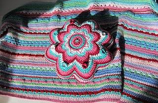 Stripes. And color.  Crochet handbag