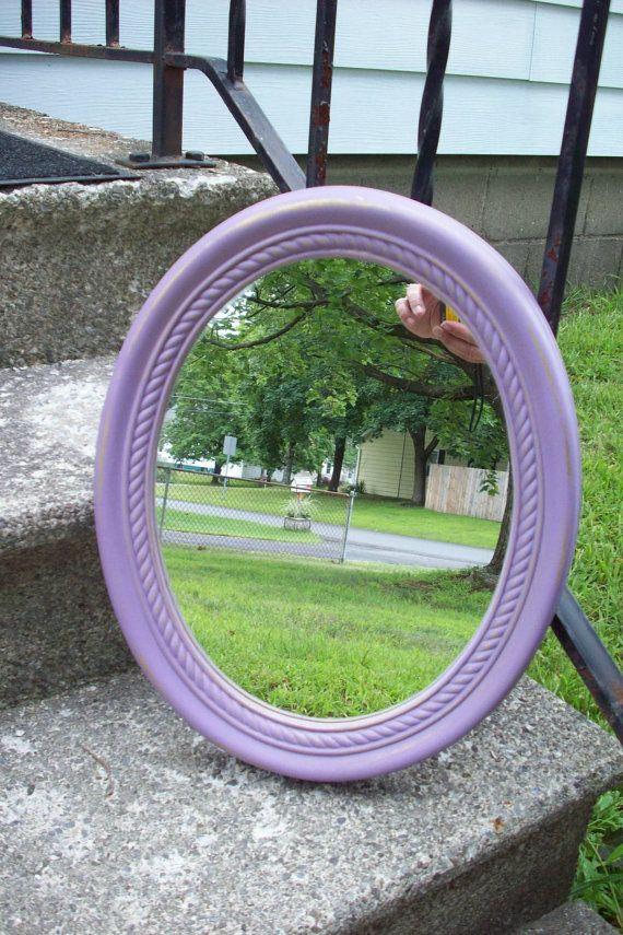 Purple Wall Mirror/ Ornate Vintage Burwood by UpcycledCottageDecor