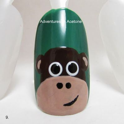 Adventures In Acetone: Tutorial Tuesday: Monkey Nail Art!