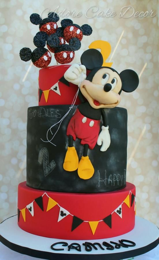 Mickey Mouse balloons cake