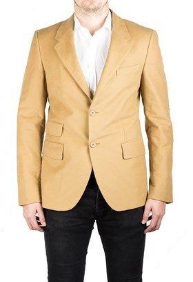 Prada Men's Notched Lapel Cotton Viscose Sport Jacket Coat Blazer Camel Mustard.