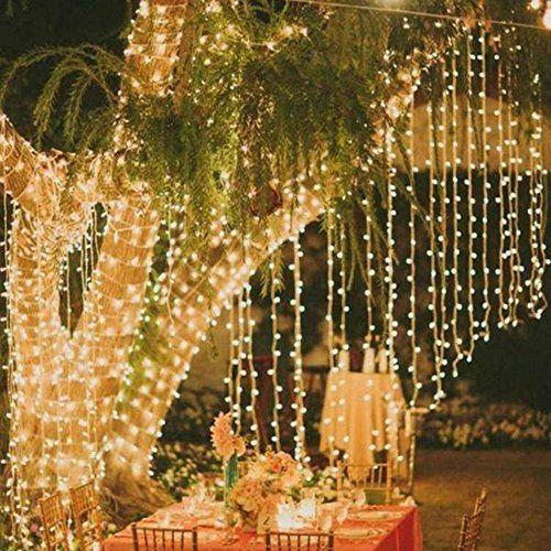 guirnalda led de cortina luces blancas exterior m x m v navidad fiesta boda de
