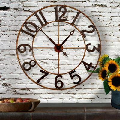 tuscan wall clocks oversized tuscan clocks large tuscan style iron clocks distressed clocks on sale with no sales tax