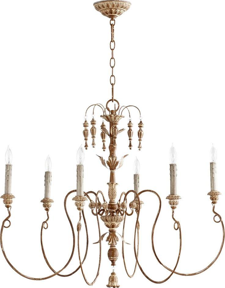 Dining Room: Quorum Salento 6-Light Chandelier French Umber 6006-6-94 | LampsUSA $326