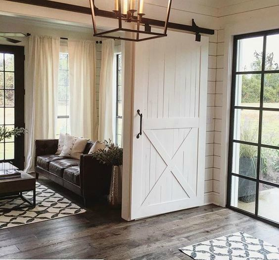 Joanna Gaines, 20 Sliding Barn Door Ideas via A Blissful Nest