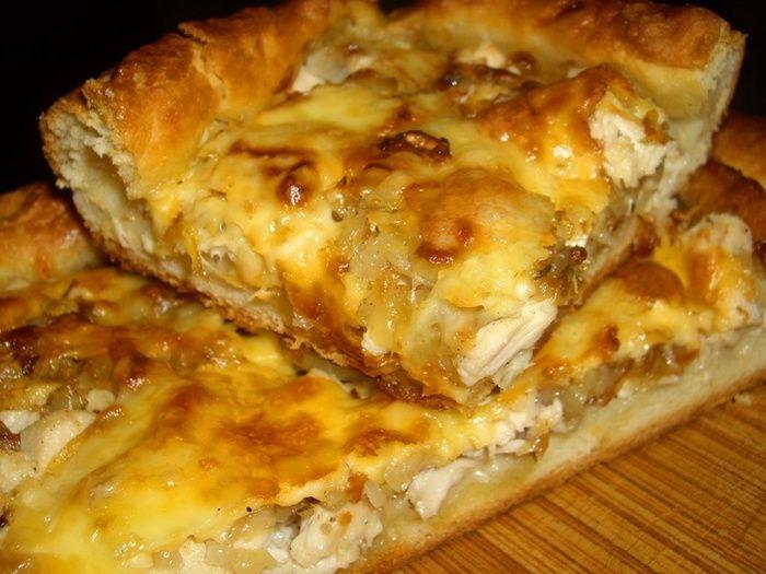 Пирог с курицей в духовке рецепт с фото пошаговый