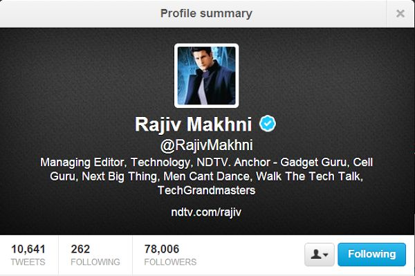 Top 10 People To Follow On Twitter For Technology News and Updates @RajivMakhni