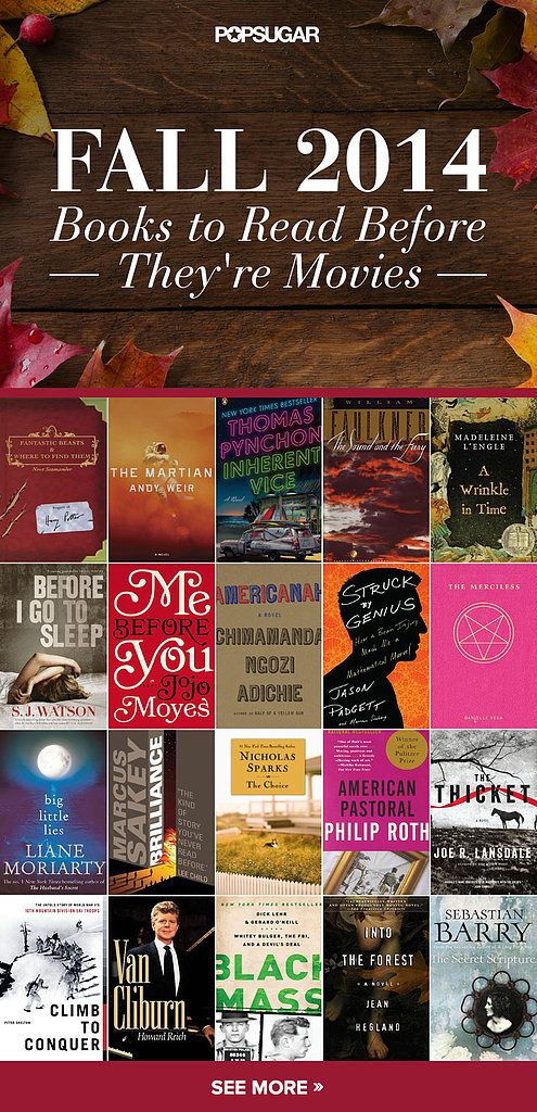 50 books to read before they're movies, Fall 2014!