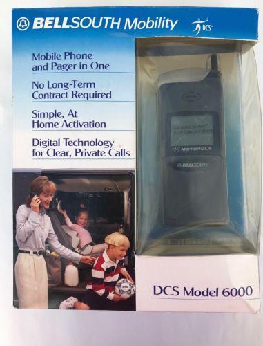 BellSouth-Mobility-DSC-Motorola-MicroTAC-Select-Model-6000-Handset-NOS-Charger