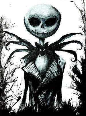 """Jack Skellington : Jack Skellington es un esqueleto conocido como """"El Rey Calabaza"""" o """"El rey de la oscuridad"""" de Halloween Town [Ciudad de Halloween], un mundo ficticio dedicado enteramente a la festividad de Halloween. Al principio de la película Jack usa un disfraz basado en un espantapájaros con una calabaza por cabeza. Normalmente usa un traje negro con delgadas líneas blancas y una corbata que se asemeja a un murciélago. Jack está basado en la leyenda de """"Jack The Pumpkin King"""" jojojo…"""