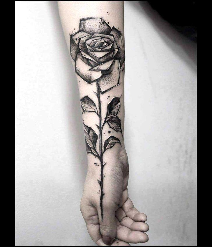 Flower Arm Tattoos Trick Rose Tattoo Sleeve Black Rose Tattoos Rose Hand Tattoo